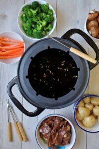 beef teriyaki fondue
