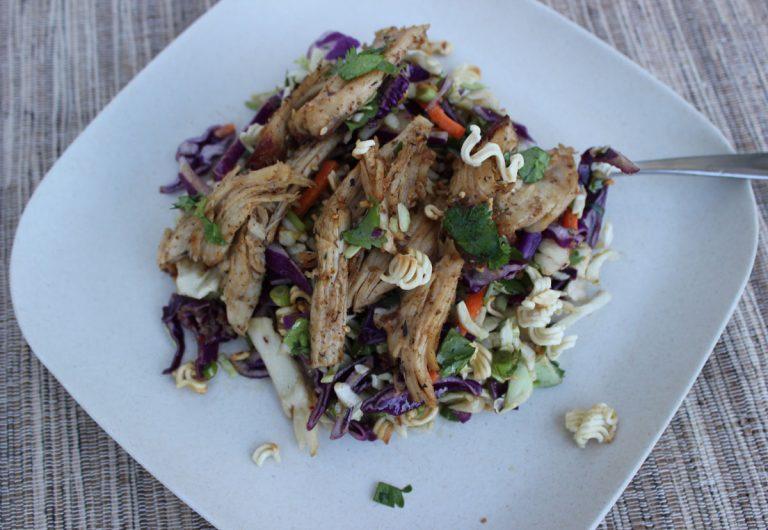 Asian Turkey Noodle Slaw