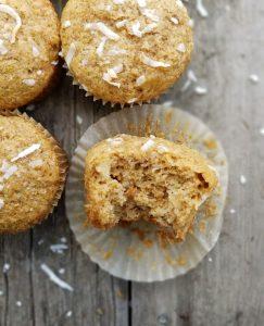 Pina Colada Muffins minus a bite