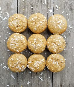 Pina Colada Muffins combine tropical flavours making them delicious