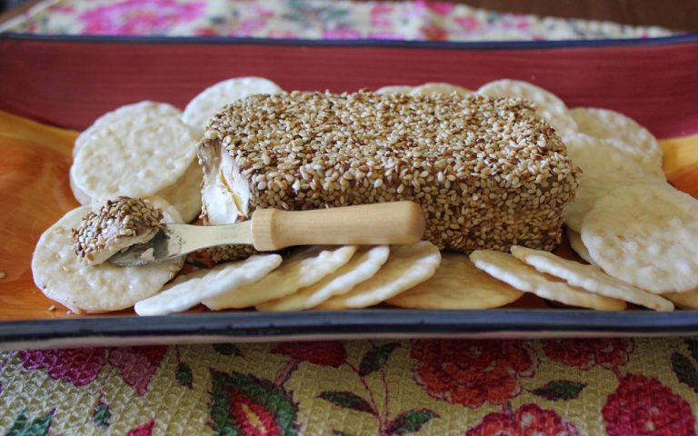 Toasted Sesame Cream Cheese spread