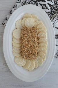 toasted sesame cream cheese spread
