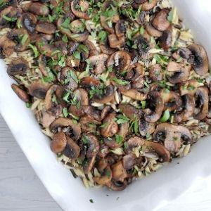 wild rice, orzo, mushroom