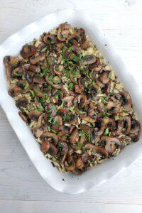 Wild Rice Orzo and Mushroom Casserole