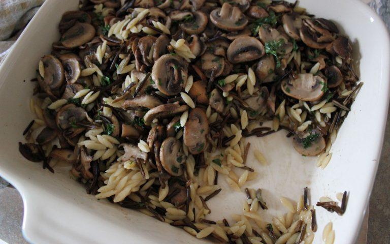 Wild Rice, Orzo & Mushroom Casserole
