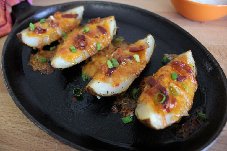 Baked Potato Skins with Pancetta