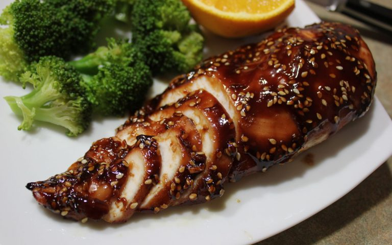 sticky hoisin orange chicken