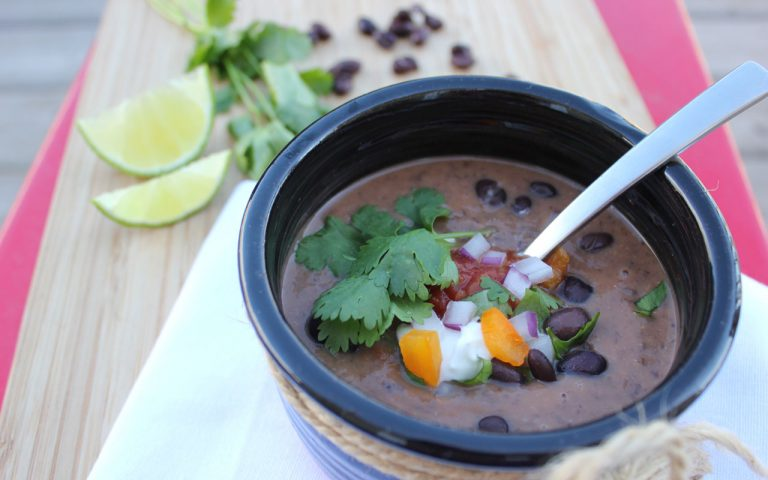 Black Bean Soup with Bacon
