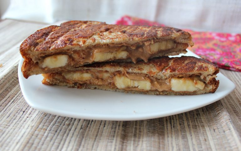 Grilled Peanut Butter & Banana Panini