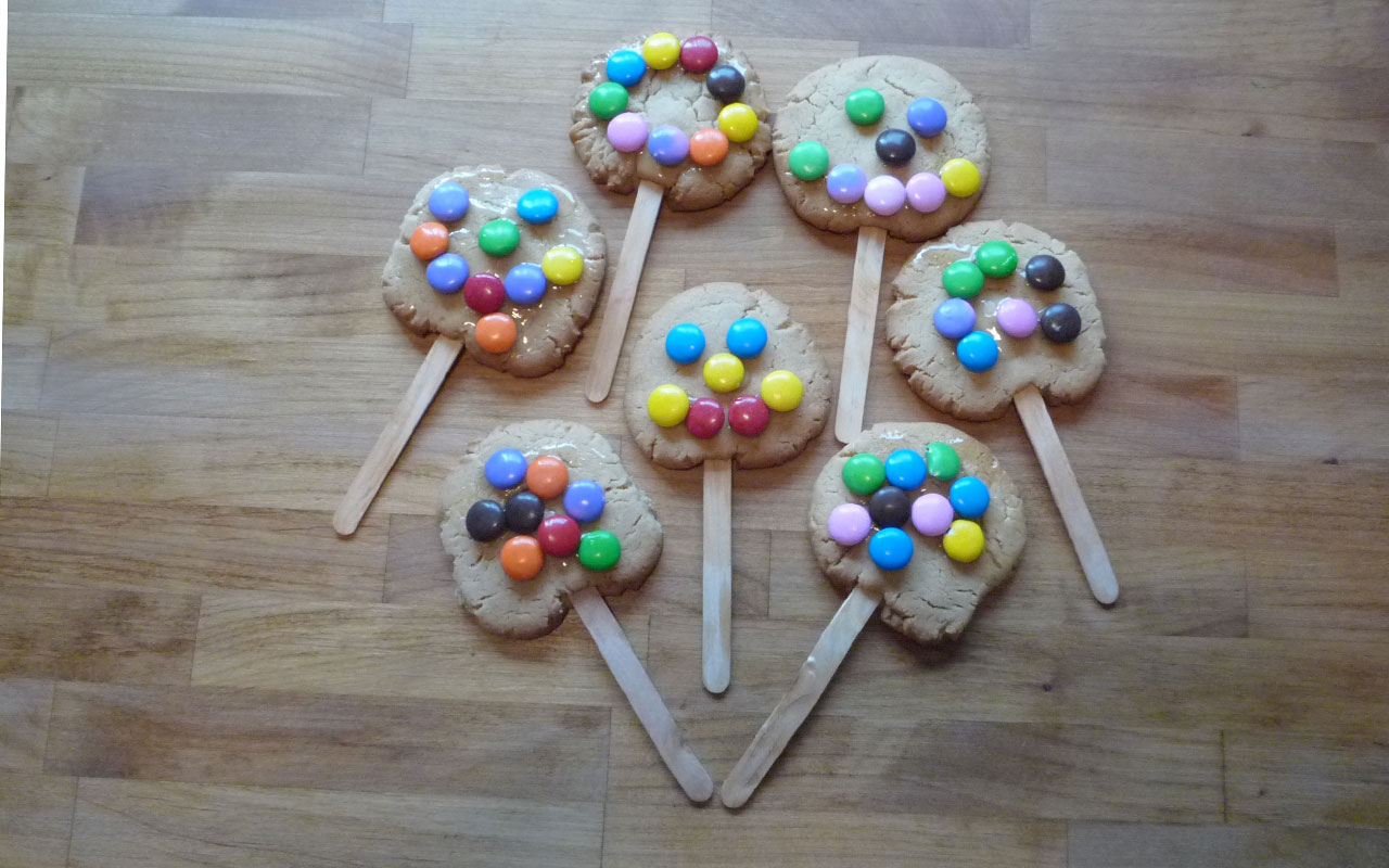 Peanut Butter cookies on a stick