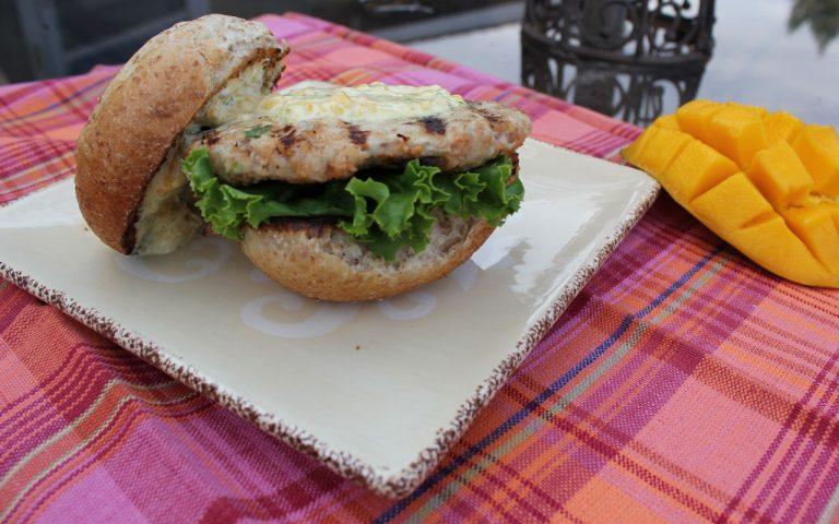 Chicken Burgers with Mango Mayo