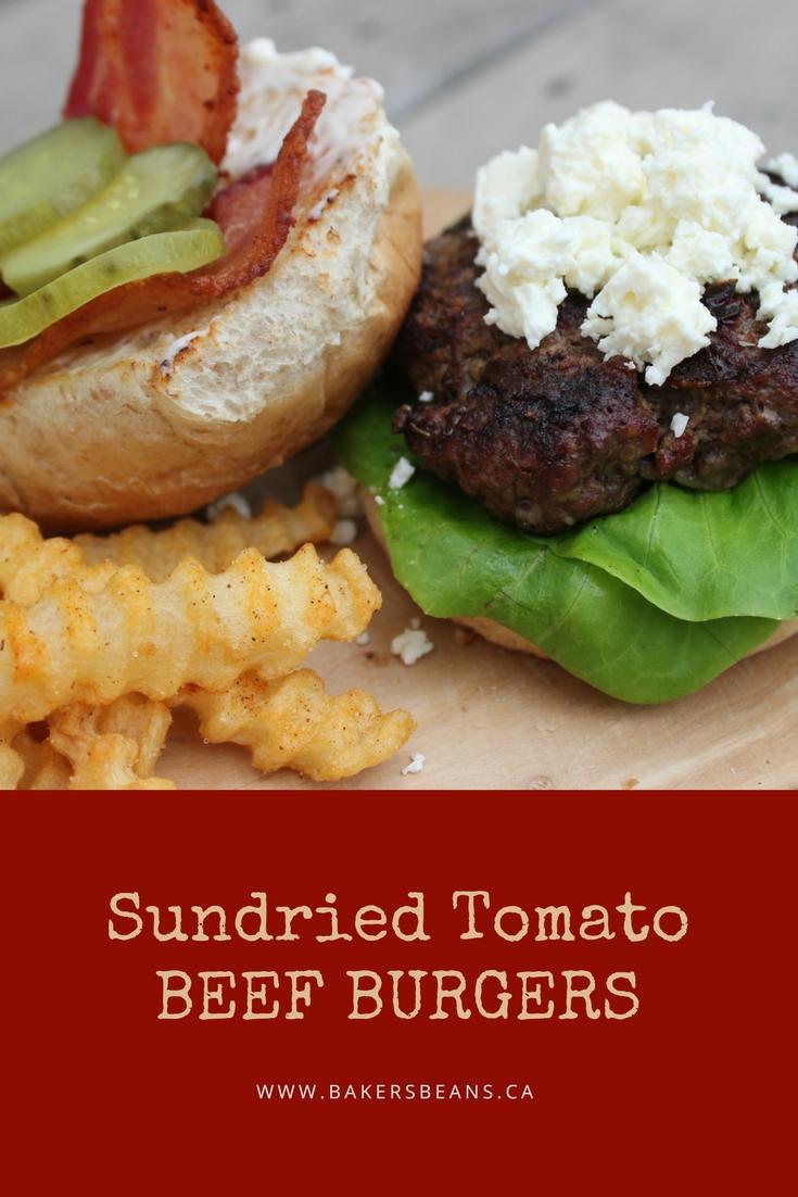 Sundried Tomato Beef Burgers