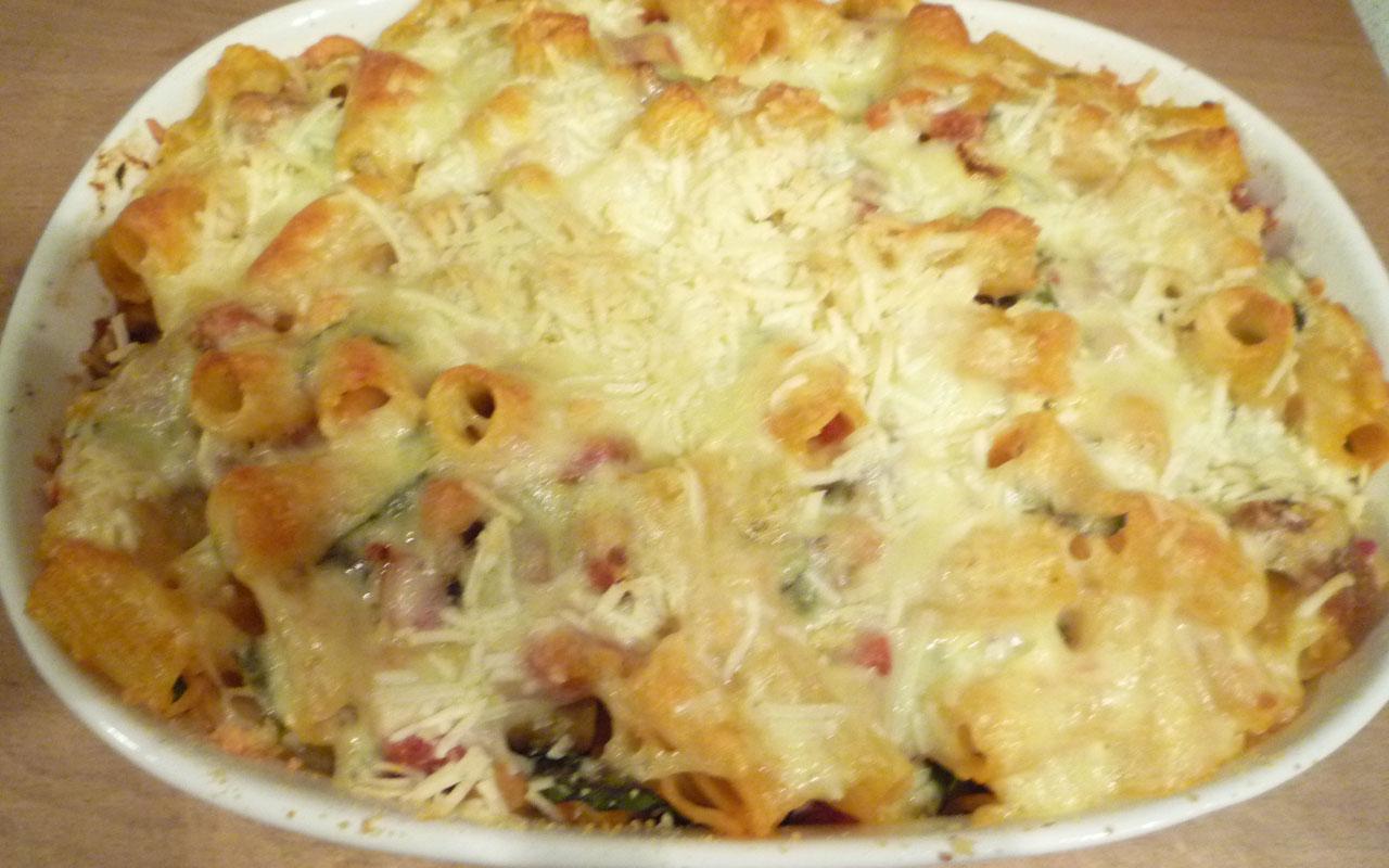 sausage & swiss chard rigatoni