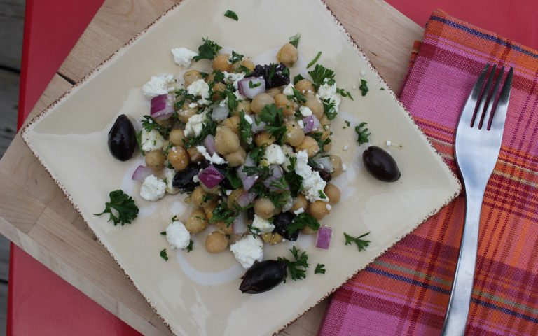 Chickepea & Feta Cheese Salad