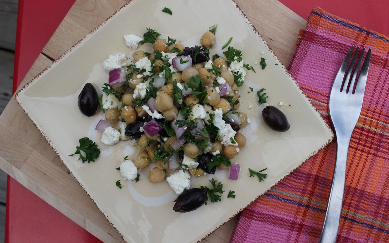 Chickepea & Feta Cheese Salad