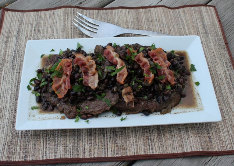Cumin Steak with Black Beans, Crockpot