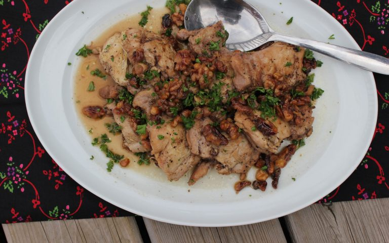 Maple Walnut Chicken Thighs