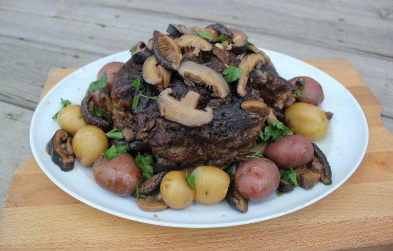 Beef Roast with Shiitake Mushroom Gravy