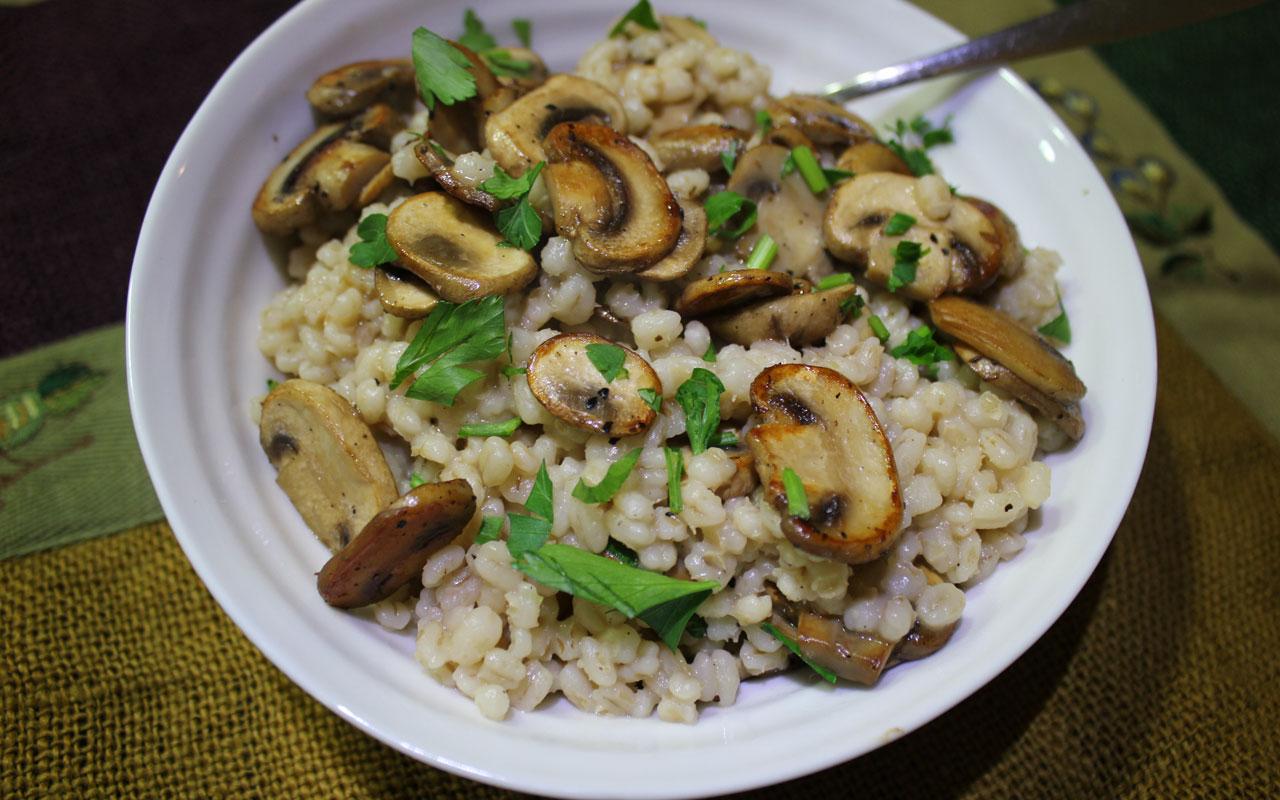 mushroom barley risotto