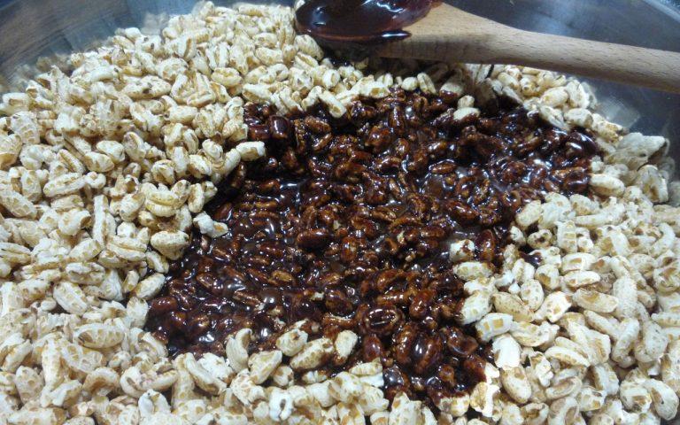 puffed wheat cinnamon squares