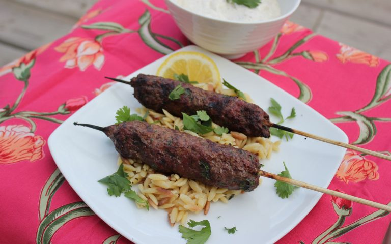 Beef Keftas (Meat on a Stick)