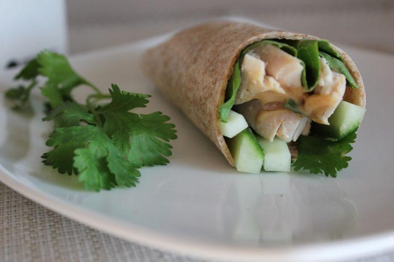 Thai Turkey Wraps