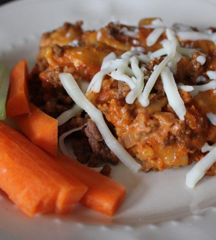 Cheesy Hamburger Casserole, Crockpot