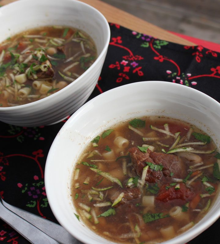 Beef Minestrone Soup, Crockpot