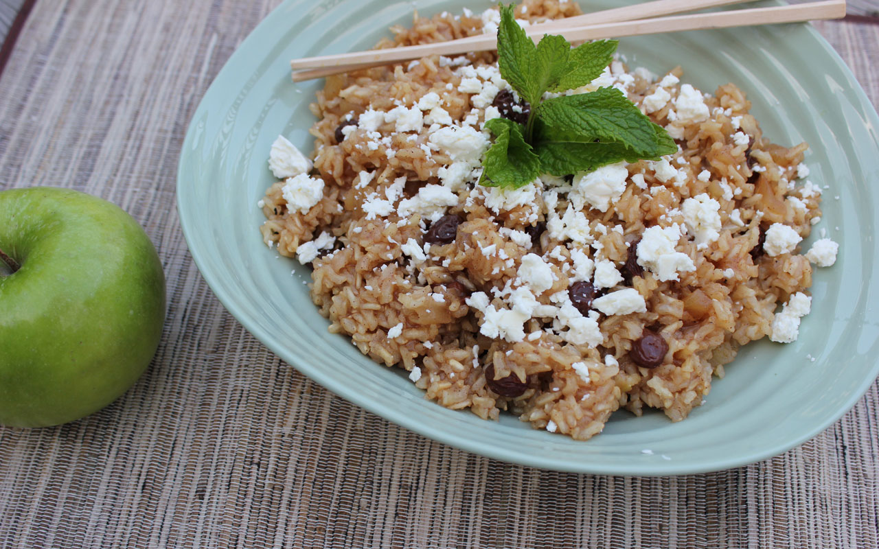brown rice with feta