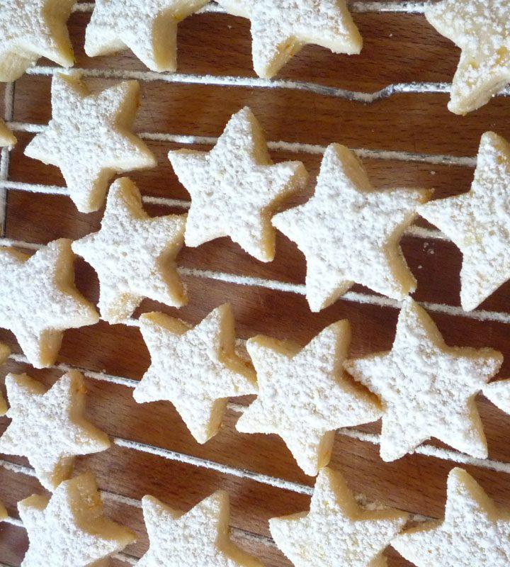 Orange Nutmeg Shortbread Cookies