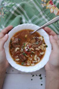 slow cooker beef minestrone