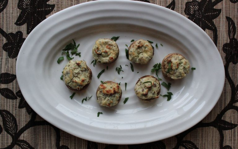 Blue Cheese Pecan Stuffed Mushrooms