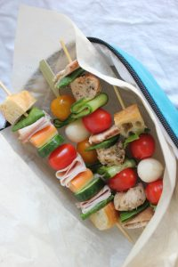 Sammy's On A Stick include fresh vegetables, bread and your favourite meat