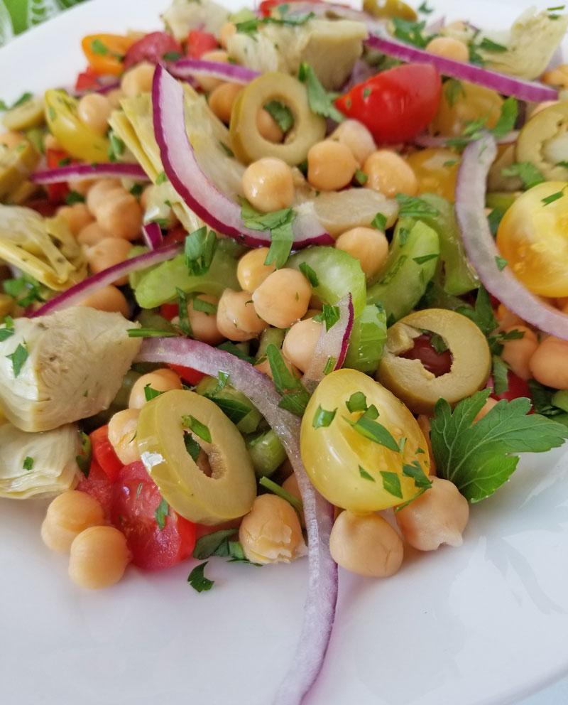 Chick Pea & Artichoke Salad