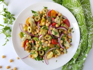 Chickpea and Artichoke Salad
