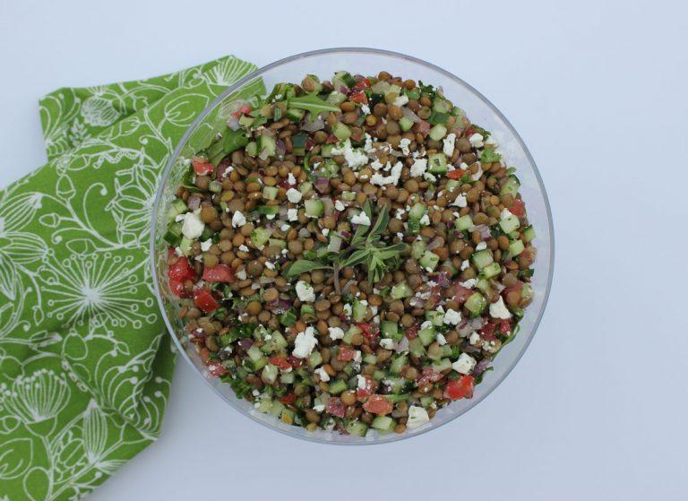 Feta & Lentil Salad