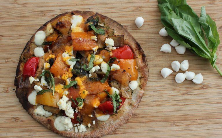 Grilled Veggie, Pesto & Bocconcini Pizza