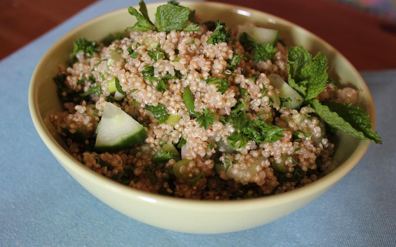 quinoa cucumber and mint salad