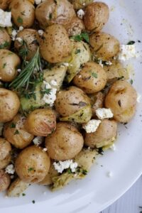 roasted potatoes with artichokes