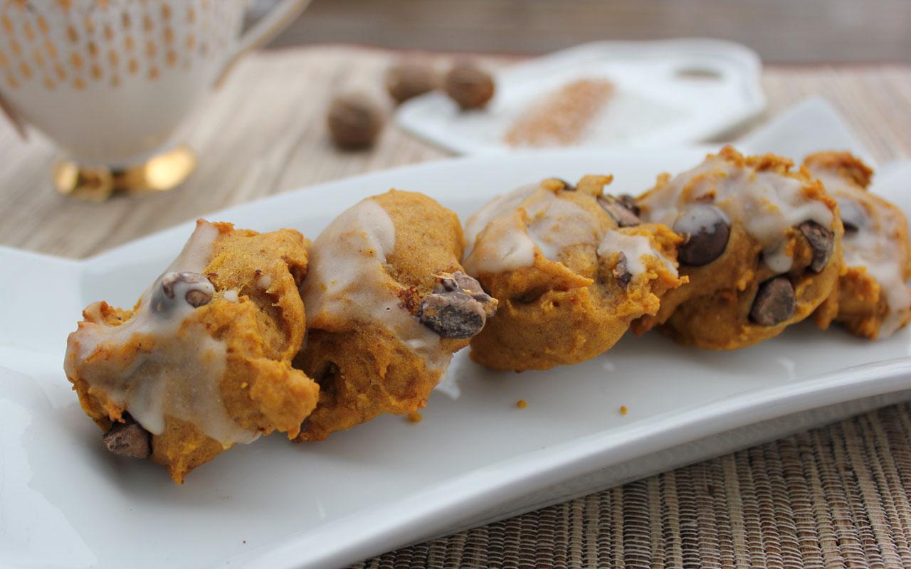 Pumpkin Orange Chocolate Chip Cookies
