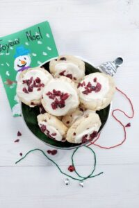 white chocolate cranberry kiss cookies