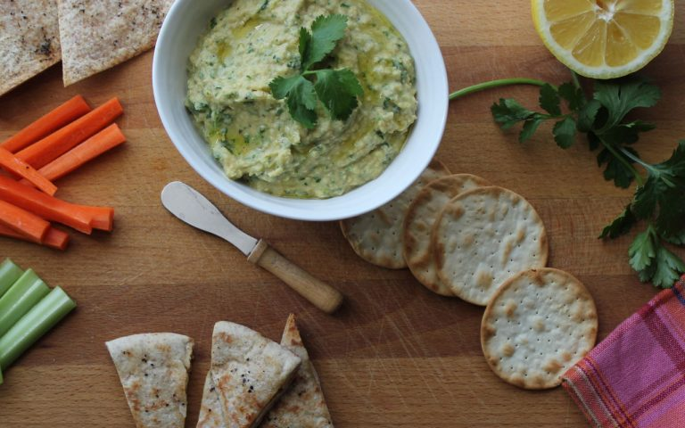 Cilantro & Black Pepper Hummus