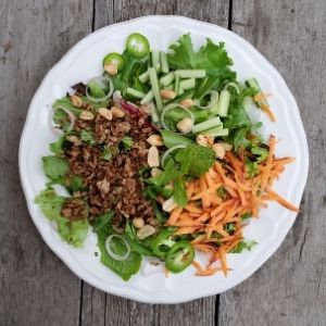 thai salad with jalapeno and mint