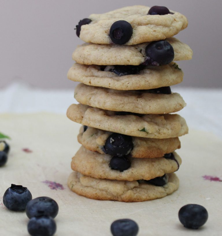Blueberry Mint Cookies