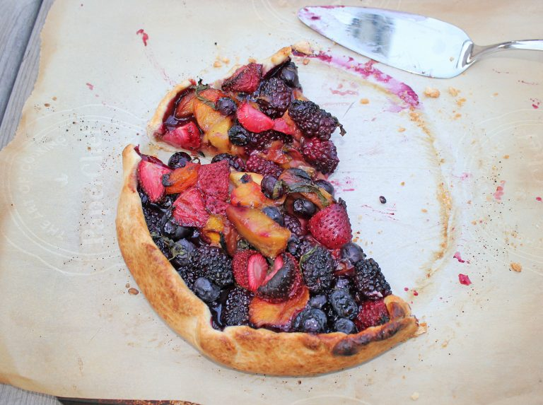 Grilled Peach Galette