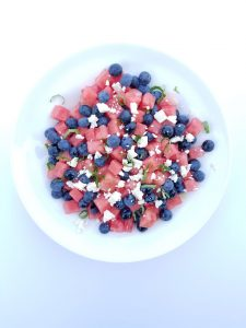 Watermelon, Blueberry, Mint and Feta Salad