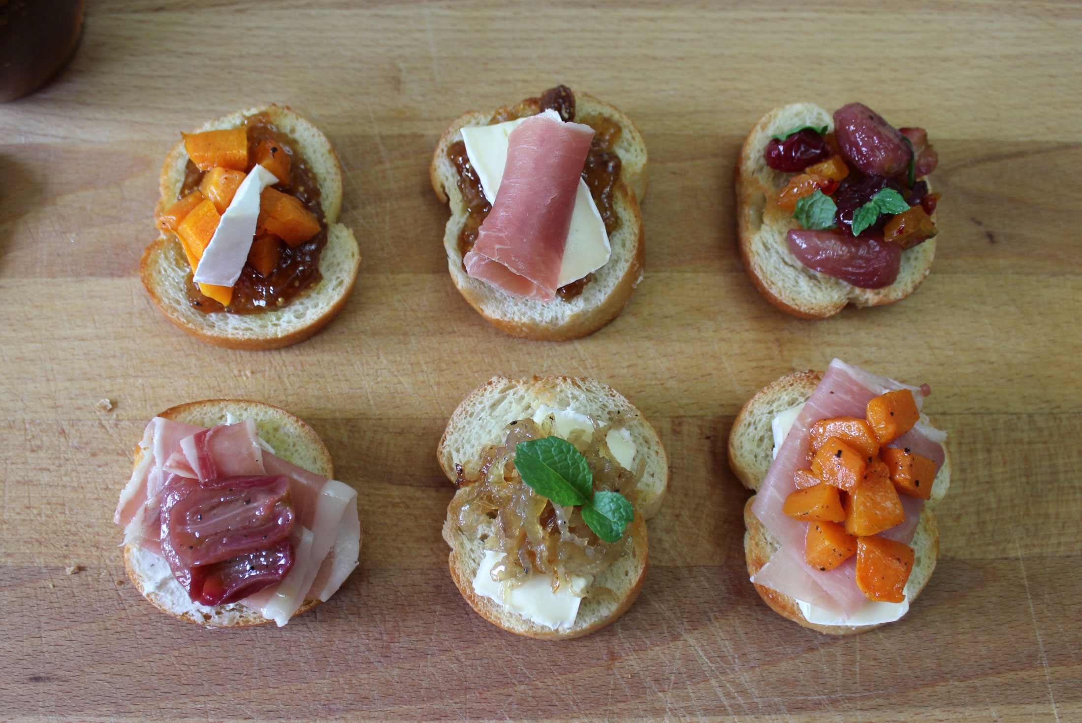 Fall canapes for Canape wines