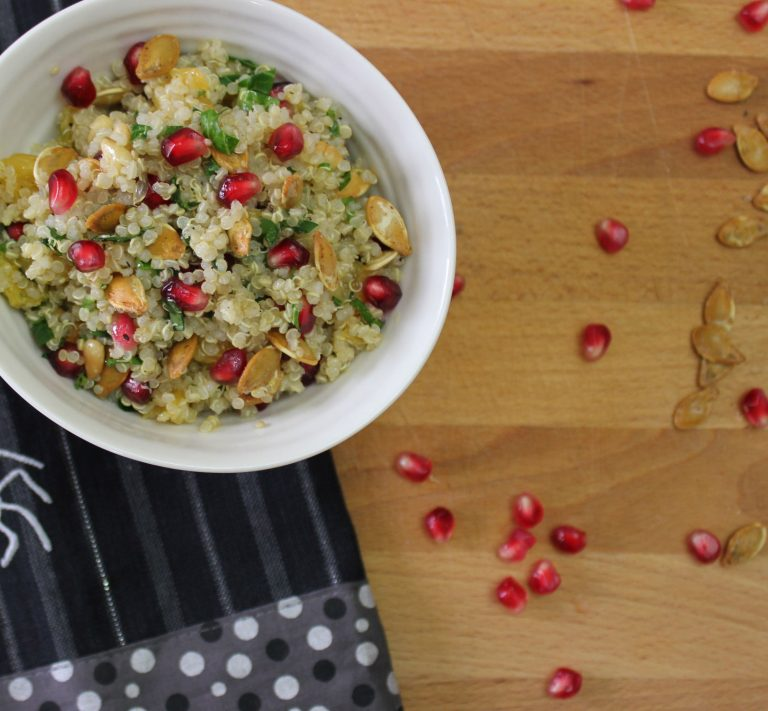 Pomegranate and Orange Quinoa Salad