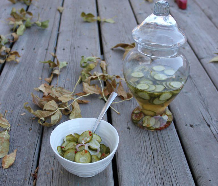 Quick Pickle Cucumbers