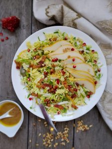 Winter Brussels Sprouts Slaw with Pancetta